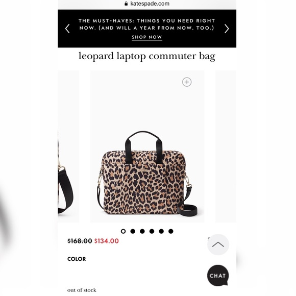 pretty nice 031c3 1f3a1 Kate Spade Leopard Laptop Commuter Bag
